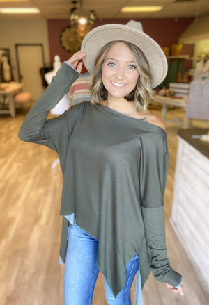 DOORBUSTER Olive You Top {FINAL SALE}