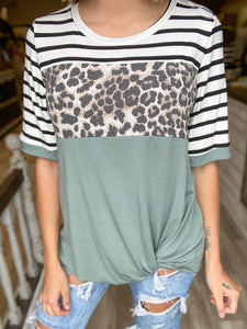 Sage The Word Leopard Top