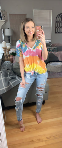 Over The Rainbow Tie Dye Top