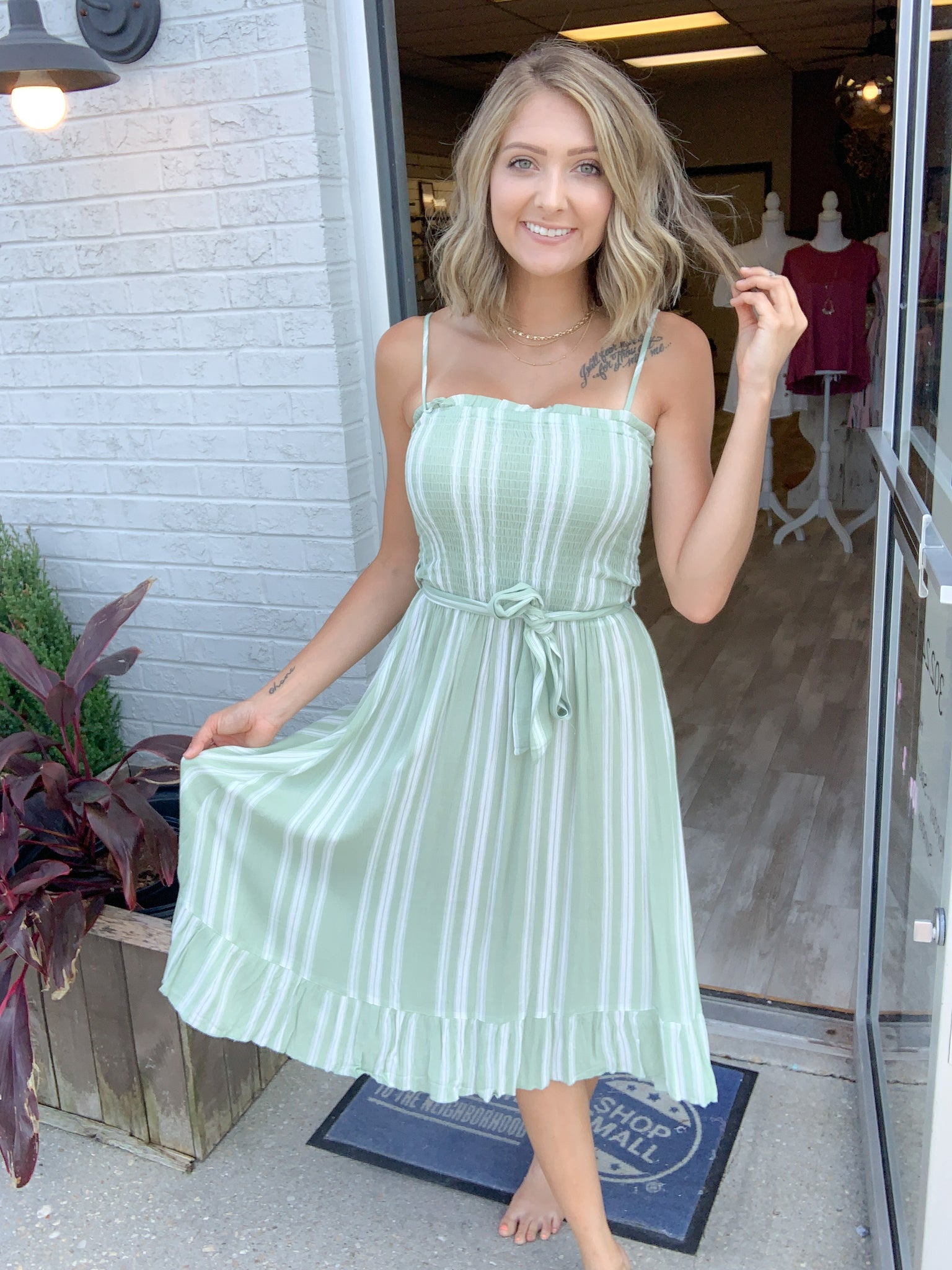 Spring Stripes Dress