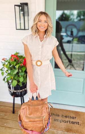 Simple Feel Dress {lightweight linen semi sheer}