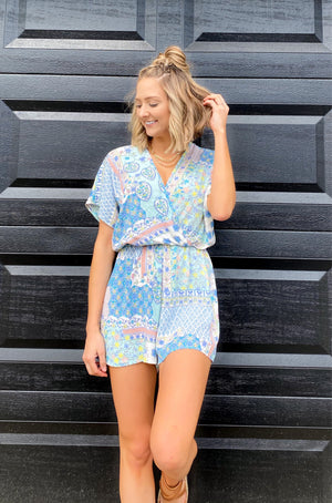 Prized Paisley Beauty Romper