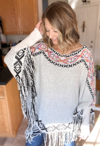 Wild West Tribal Poncho
