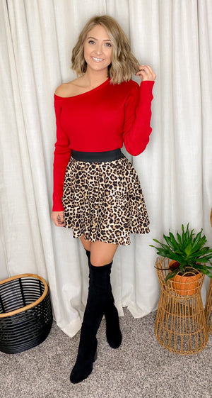 Skater Girl Leopard Skirt
