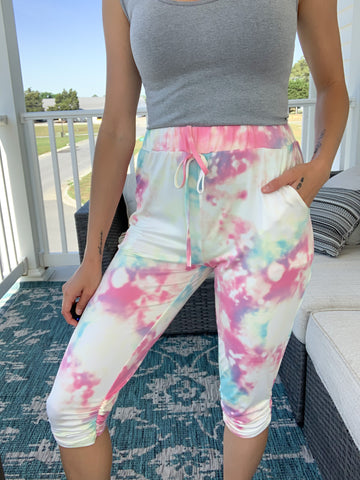 Water Color Cropped Jogger