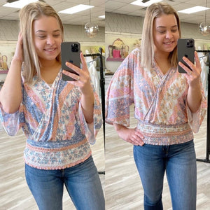 A Little Soul Printed Top {MULTIPLE COLORS}