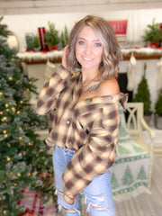 Not Your Boyfriends Plaid Top