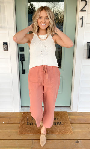 Beach Cove Cropped Pants