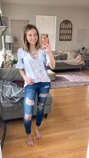 Sun & Fun Tie Dye Top- MULTIPLE COLORS