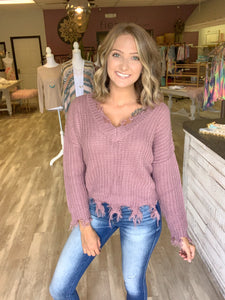 All Frayed Out Fringe Sweater {MULTIPLE COLORS}