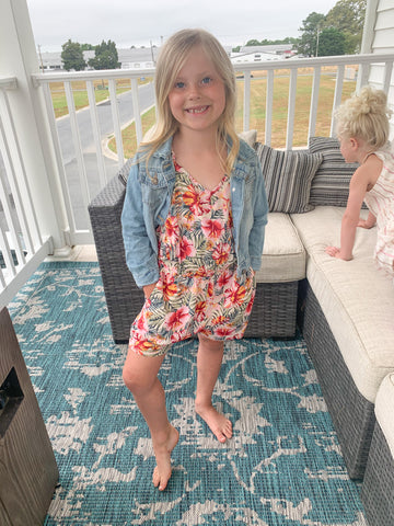 Tween Too Cute Tropical Romper