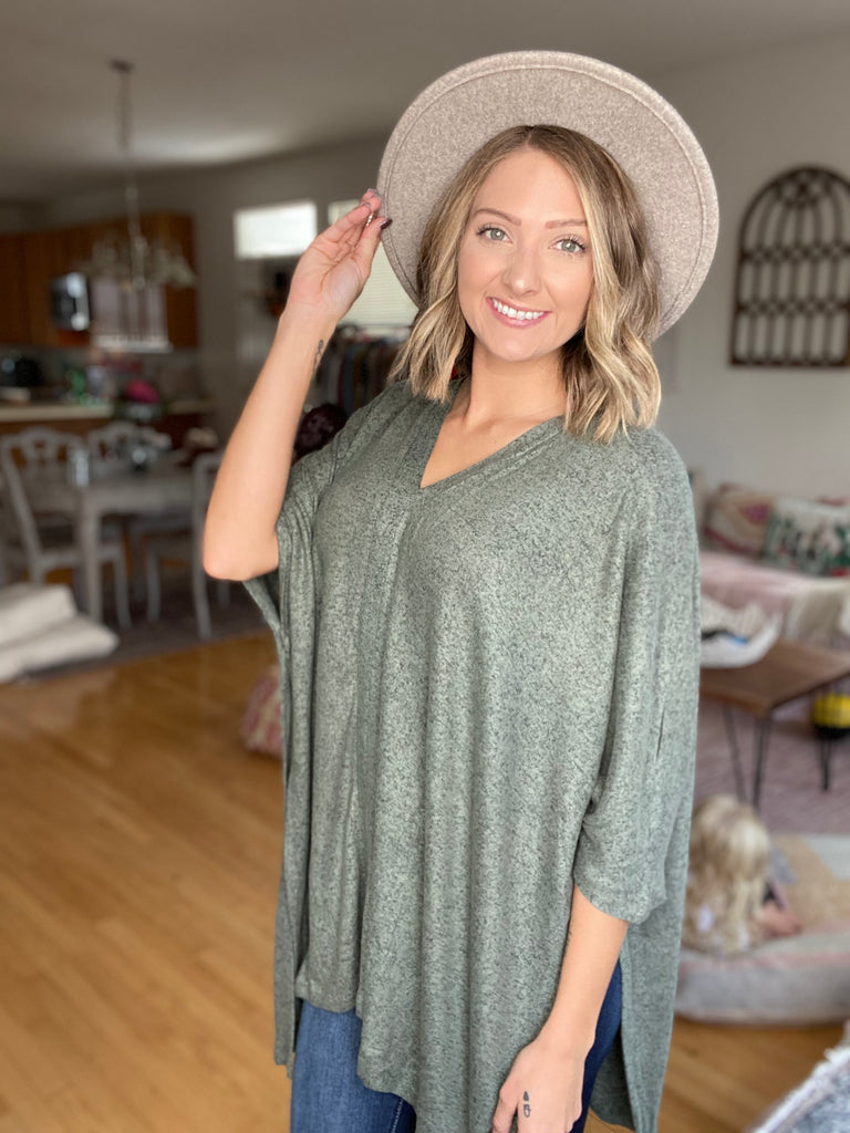 DOORBUSTER Brushed Poncho FINAL SALE {MULTIPLE COLORS}