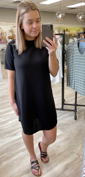VIP Black T-Shirt Dress {FINAL SALE}