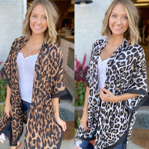DOORBUSTER Leopard Kimono {MULTIPLE COLORS} {FINAL SALE}
