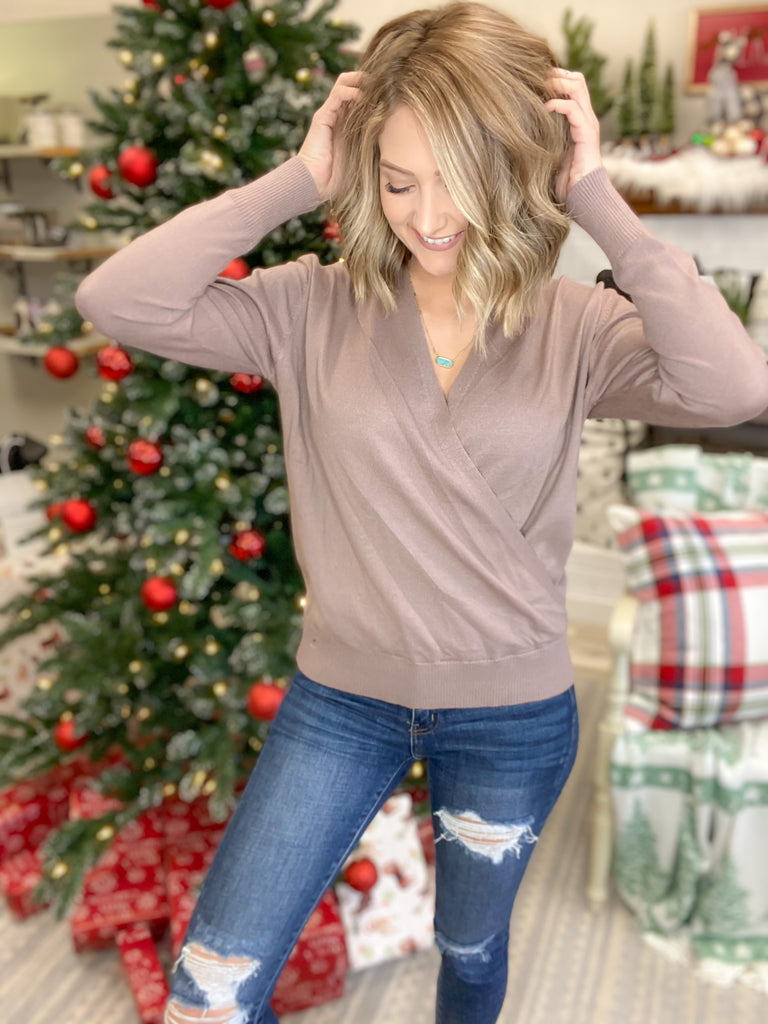 Holiday Gorgeous Top {MULTIPLE COLORS}