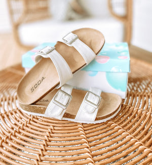 Double Strap Buckle Sandal