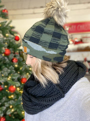 DOORBUSTER Camo/Plaid Beanie & Scarf Combo {FINAL SALE}
