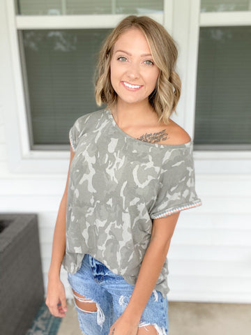 Day To Day Camo Top