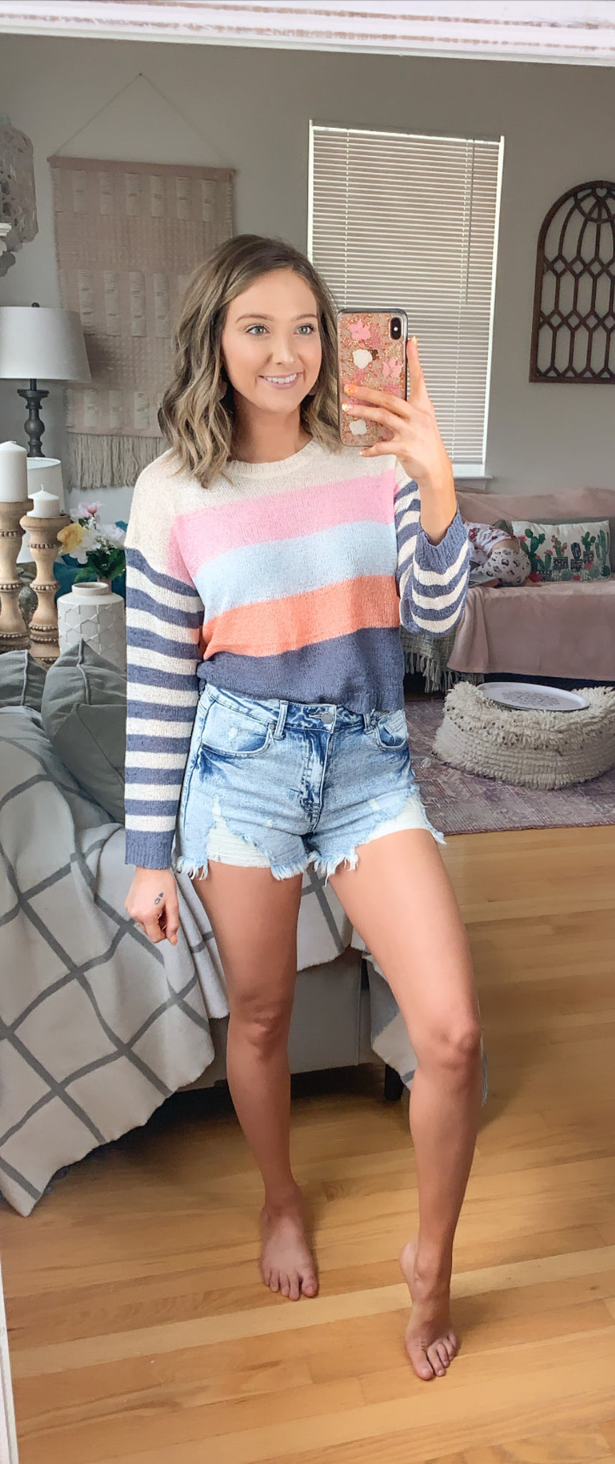 Taste The Rainbow Cropped Sweater