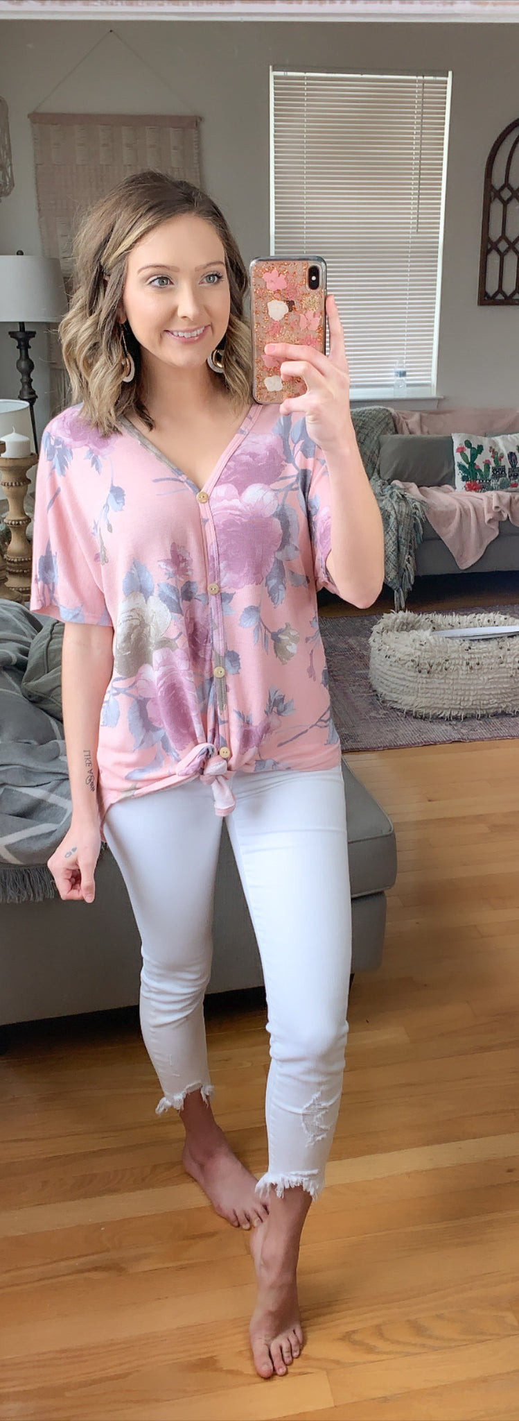 Peaceful Moment Floral Top