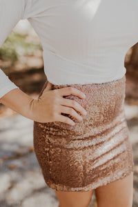 Bronzed Babe Sequin Skirt