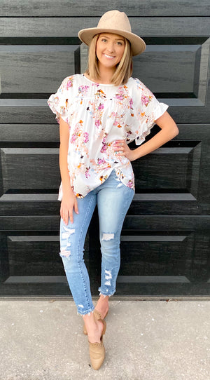 Before You Go Floral Top