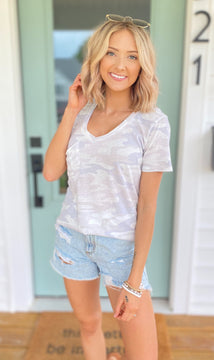 The Camo Pocket Tee {MULTIPLE COLORS}