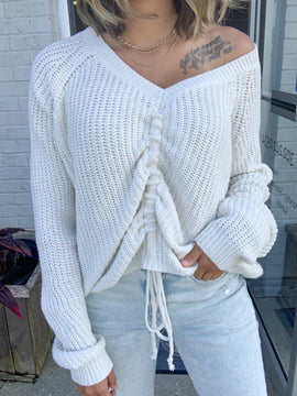 A Chic Peek Sweater {MULTIPLE COLORS}