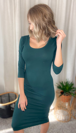 DOORBUSTER Midi Dress {MULTIPLE COLORS} {FINAL SALE}