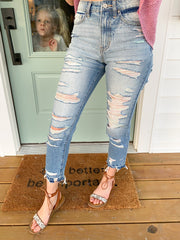 Elizabeth Distressed Skinny Denim