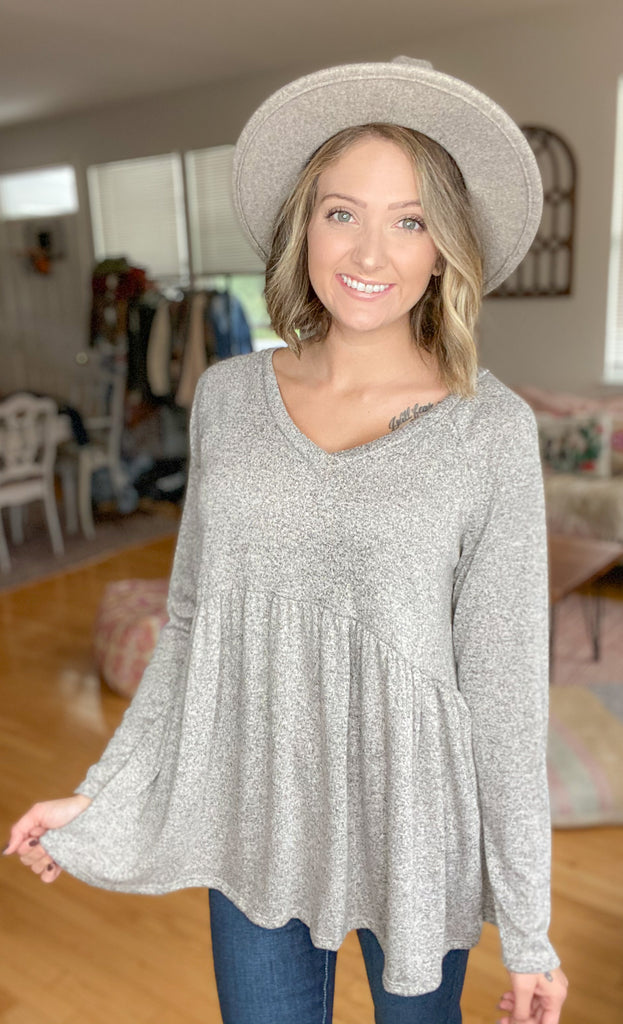 Cashmere Feel Top {MULTIPLE COLORS}