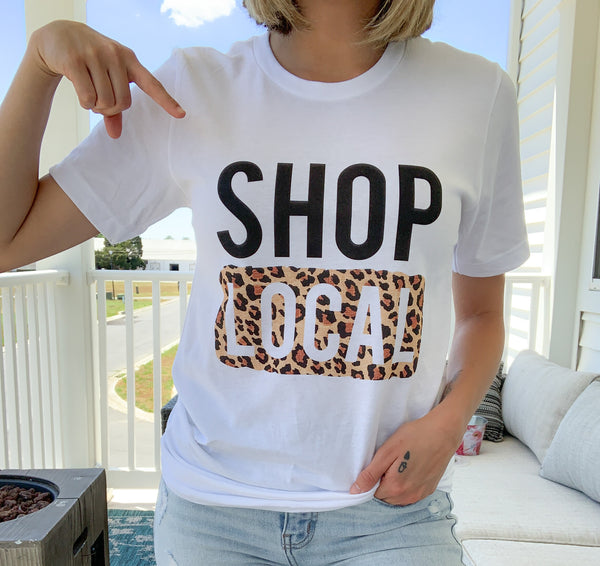 Shop Local Leopard Graphic Tee
