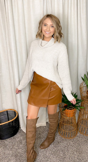 Major Moment Faux Leather Skirt