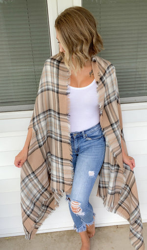DOORBUSTER Plaid Pocket Kimono {MULTIPLE COLORS} {FINAL SALE}