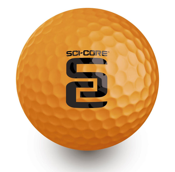 6 Ball Sleeve - SCI-CORE Real Feel Indoor Outdoor Practice Golf Balls