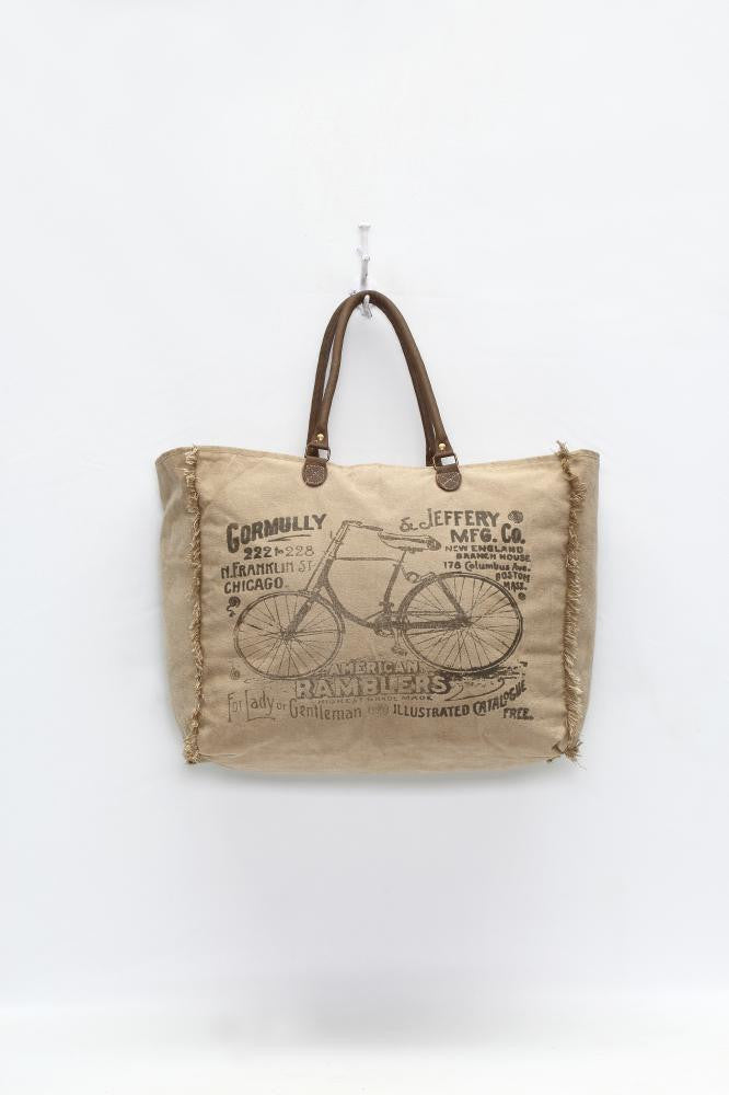 """AMERICAN BY-CYCLE"" WEEKENDER BAG"