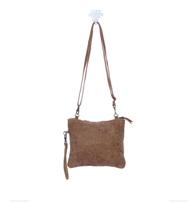 White and Brown Shade Cross body Bag