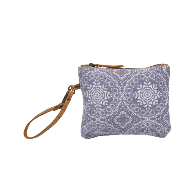 Lavender Abstract wristlet