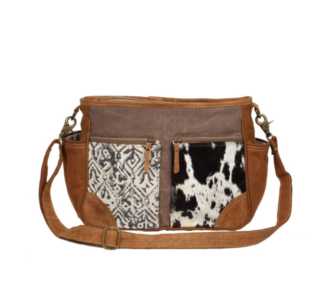 Two Tone Design Messenger Bag
