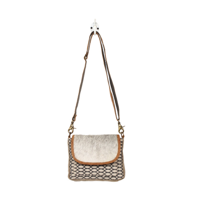 Hairon Flap & honey Bee Design Crossbody Bag
