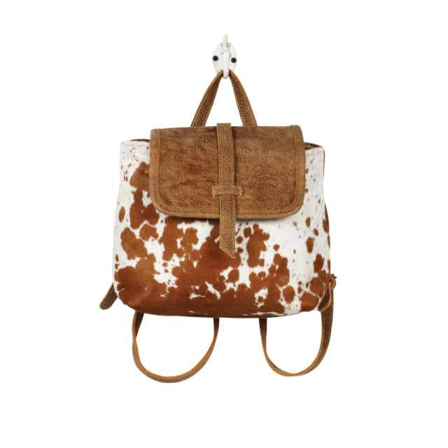 Leather Flap Hair on Backpack Bag