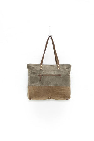 MILITARY BADGE CANVAS TOTE BAG
