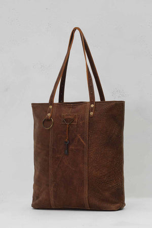 RING & KEY LEATHER BAG