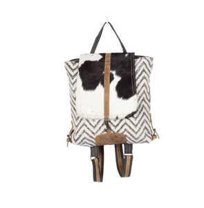 Chevron Print Backpack Bag