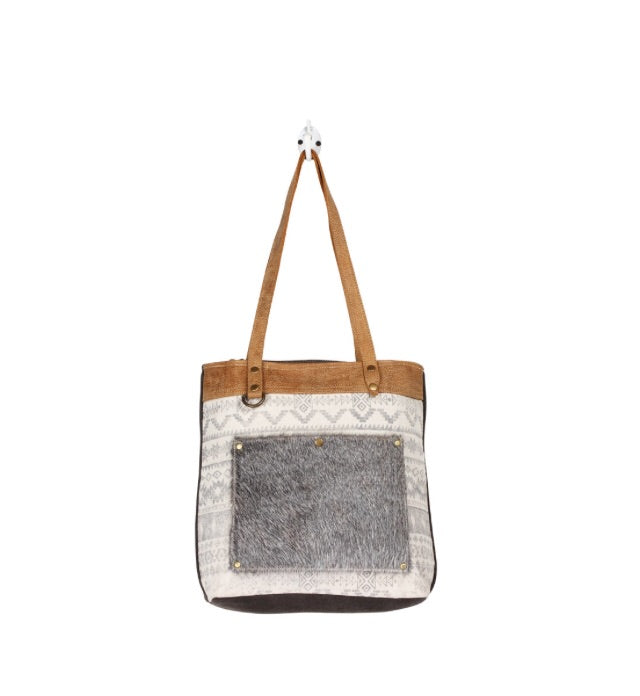 Tribe Print Canvas Tote Bag