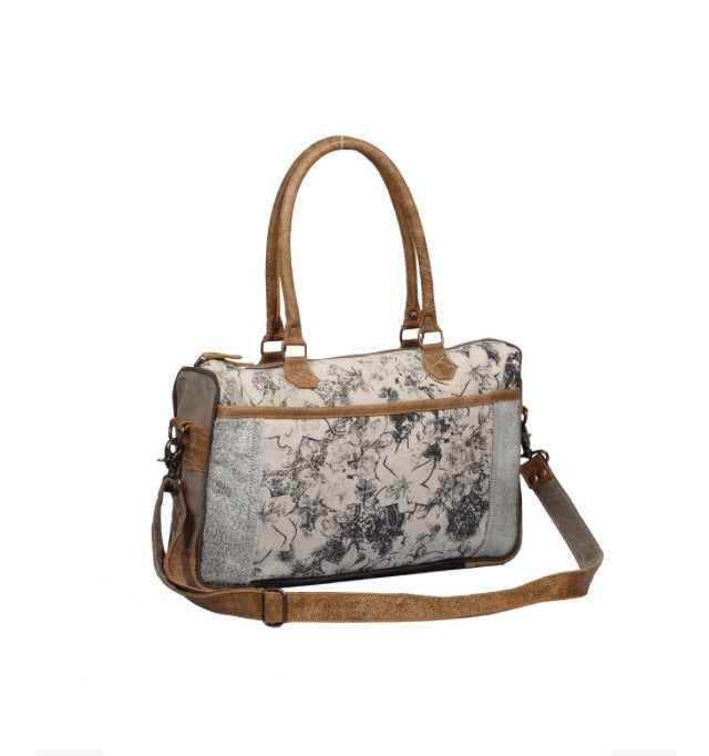 Floral Print Messenger Bag