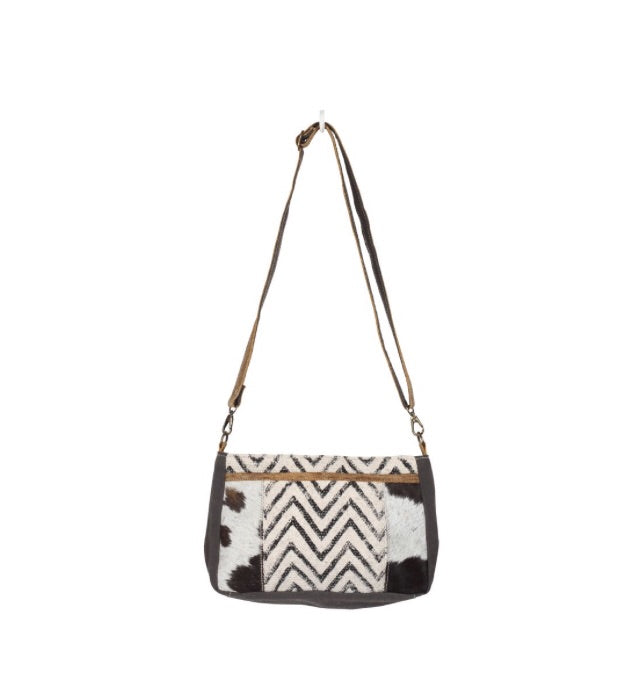 Dual Strap Chevron Cross Body bag
