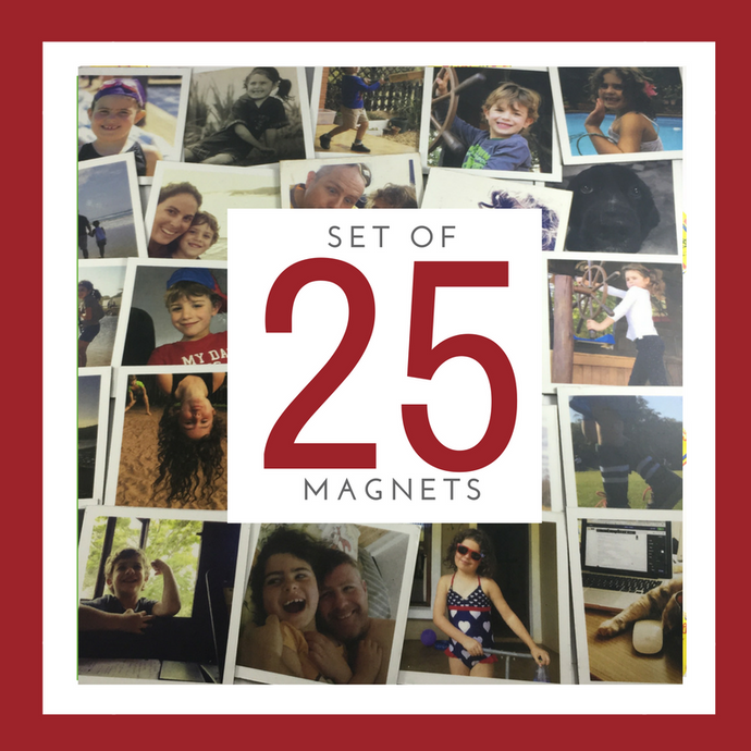 Set of 25 Small Magnets (5cm x 5cm)