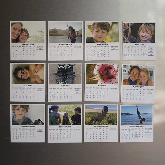 2019 Magnetic Calendar - Layout A