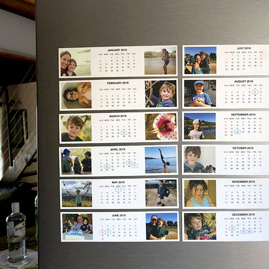2020 Magnetic Calendar - Layout B